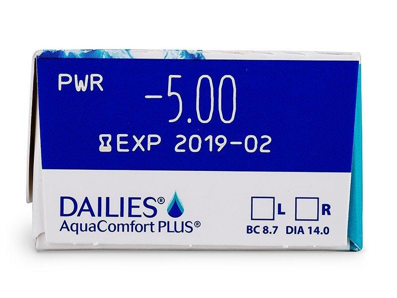 Dailies AquaComfort Plus (30db lencse) - Paraméterek előnézete