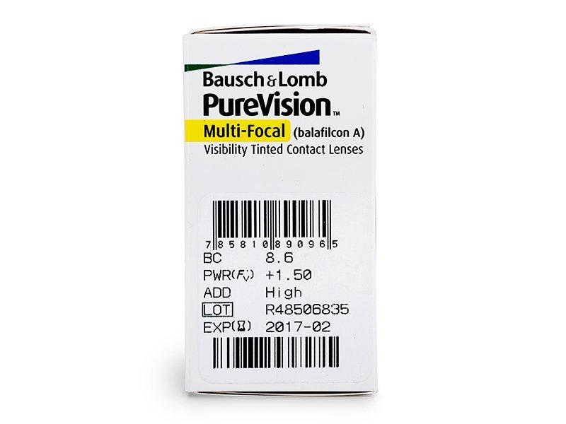 PureVision Multi-Focal (6db lencse) - Paraméterek előnézete