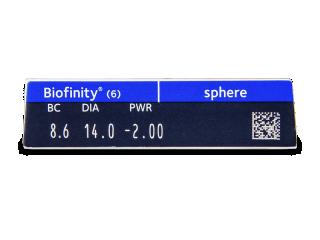 Biofinity (6db lencse) - Paraméterek előnézete