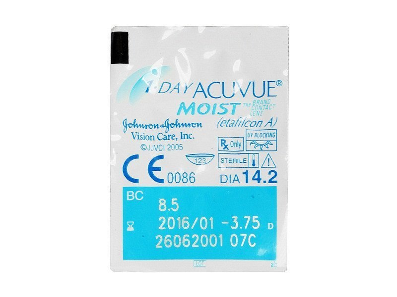 1 Day Acuvue Moist (90db lencse) - Buborékcsomagolás előnézete