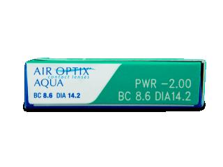 Air Optix Aqua (6db lencse) - Paraméterek előnézete