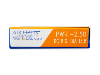 Air Optix Night and Day Aqua (3 db lencse) - Paraméterek előnézete
