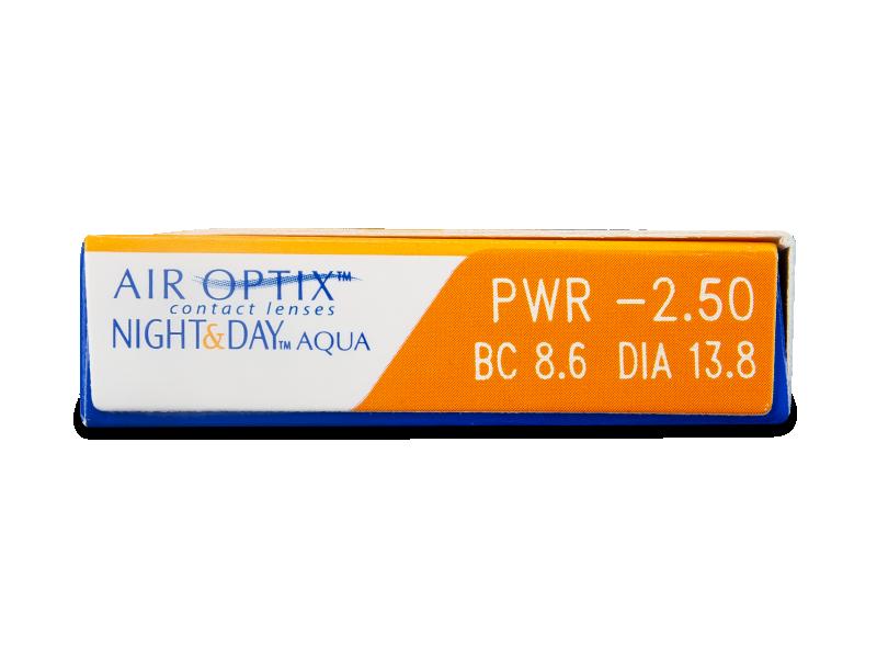 Air Optix Night and Day Aqua (6db lencse) - Paraméterek előnézete