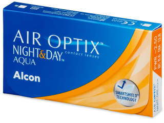 Air Optix Night and Day Aqua (3 db lencse) - Havi kontaktlencsék
