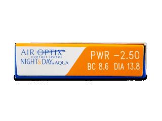 Air Optix Night and Day Aqua (3db lencse) - Paraméterek előnézete