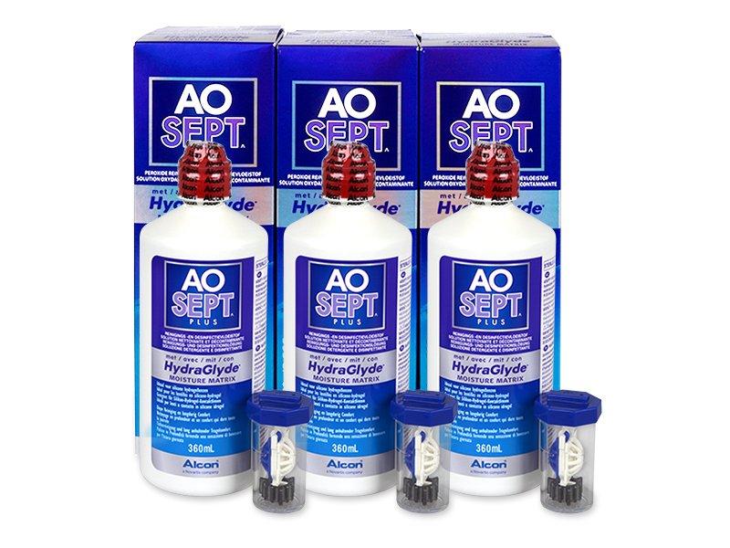 AO SEPT PLUS HydraGlyde ápolószer 3x360ml  - Gazdaságos hármas kiszerelés - ápolószer