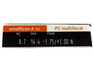 Proclear Multifocal (6db lencse) - Paraméterek előnézete